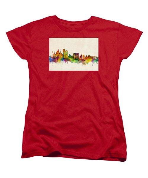 Sydney Australia Skyline Women's T-Shirt (Standard Cut) by Michael Tompsett