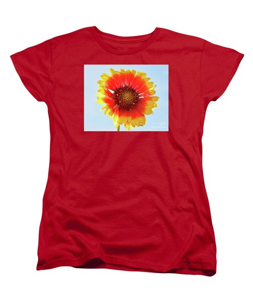 Women's T-Shirt (Standard Cut) featuring the photograph Yellow Flower by Elvira Ladocki