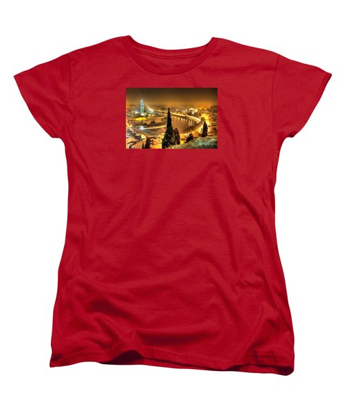 A Beautiful Blonde In Thick Paint Women's T-Shirt (Standard Cut) by Catherine Lott