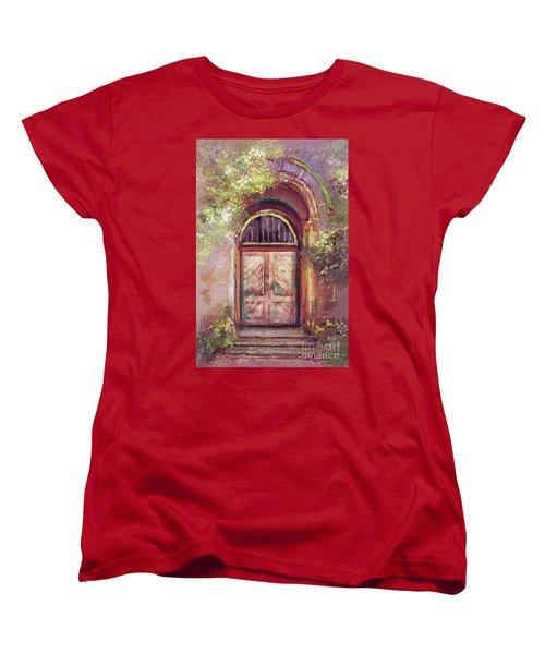 Women's T-Shirt (Standard Cut) featuring the digital art A Beautiful Mystery by Lois Bryan