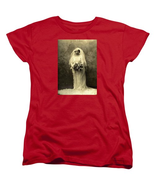 A Beautiful Vintage Photo Of Coloured Colored Lady In Her Wedding Dress Women's T-Shirt (Standard Cut) by R Muirhead Art