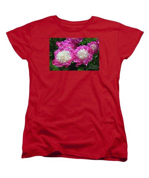 A Bouquet Of Peonies Women's T-Shirt (Standard Cut) by Eva Kaufman
