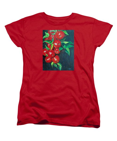 Women's T-Shirt (Standard Cut) featuring the painting A Bumper Crop by Susan DeLain