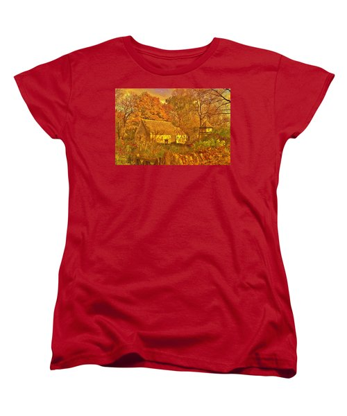 A Cotswald Fall  Women's T-Shirt (Standard Cut) by Daniel Thompson