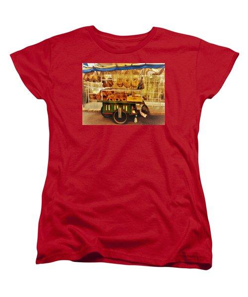 A Kaake Street Vendor In Beirut Women's T-Shirt (Standard Cut) by Funkpix Photo Hunter