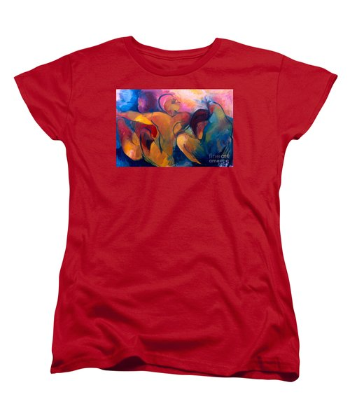 Women's T-Shirt (Standard Cut) featuring the painting A Passion To Be Raised by Daun Soden-Greene