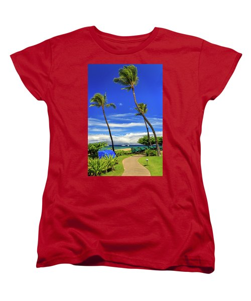 Women's T-Shirt (Standard Cut) featuring the photograph A Path In Kaanapali by James Eddy