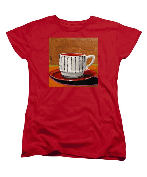 Women's T-Shirt (Standard Cut) featuring the painting A Perfect Cup by John Williams