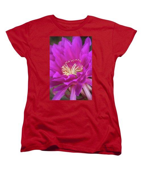 Women's T-Shirt (Standard Cut) featuring the photograph A Pink Punch  by Saija Lehtonen