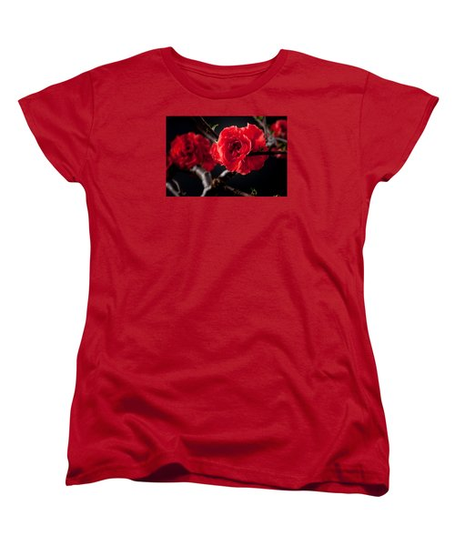 A Red Flower Women's T-Shirt (Standard Cut) by Catherine Lau