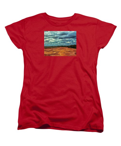 Women's T-Shirt (Standard Cut) featuring the photograph A River Of Red Sand by Diana Mary Sharpton