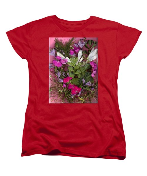 Women's T-Shirt (Standard Cut) featuring the digital art A Symphony Of Flowers by Ray Tapajna