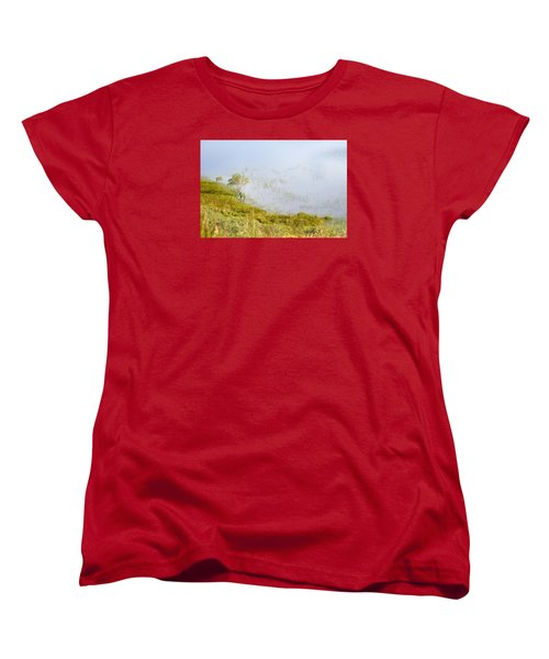 Women's T-Shirt (Standard Cut) featuring the photograph A Tree In The Lake Of The Scottish Highland by Dubi Roman