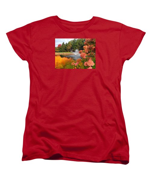 Women's T-Shirt (Standard Cut) featuring the photograph A Vision Of Autumn by Teresa Schomig