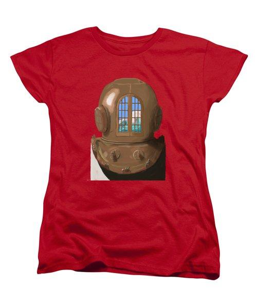 A Wave Inside The Helmet Women's T-Shirt (Standard Cut) by Keshava Shukla
