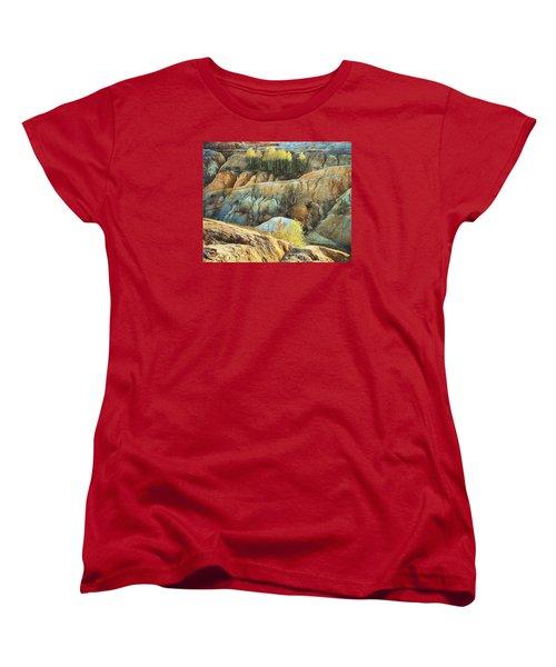 Women's T-Shirt (Standard Cut) featuring the photograph Abandoned Quarry 2 by Vladimir Kholostykh