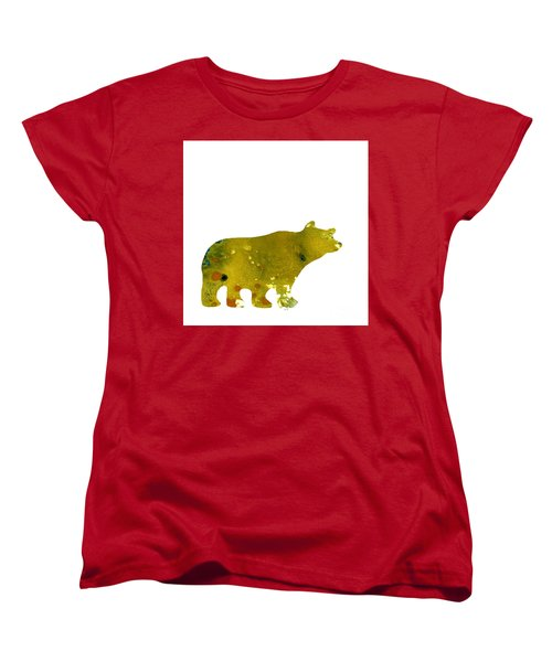 Abstract Acrylic Painting Bear II Women's T-Shirt (Standard Cut) by Saribelle Rodriguez
