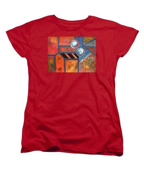 Abstract Autumn Women's T-Shirt (Standard Cut) by Riana Van Staden