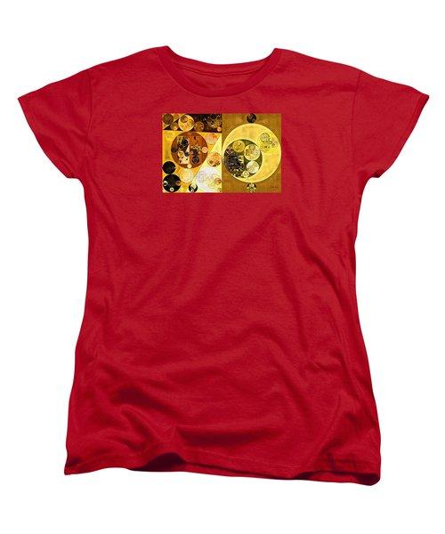 Women's T-Shirt (Standard Cut) featuring the digital art Abstract Painting - Golden Brown by Vitaliy Gladkiy