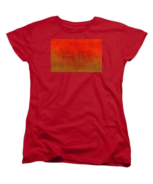 Abstract Sunset  Women's T-Shirt (Standard Cut) by Andrea Kollo