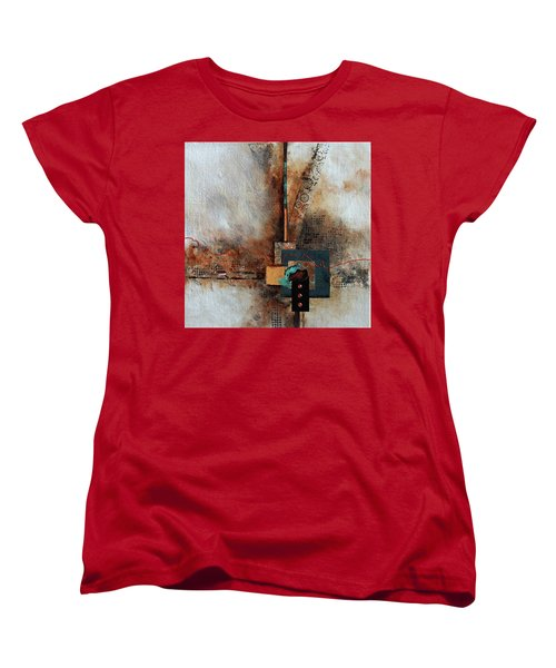 Women's T-Shirt (Standard Cut) featuring the painting Abstract With Stud Edge by Joanne Smoley