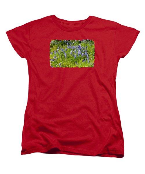 Women's T-Shirt (Standard Cut) featuring the photograph Abundance Of Blue Bonnets by Linda Phelps