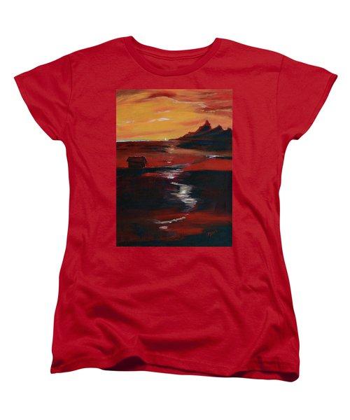 Across Amber Fields To The Sea Women's T-Shirt (Standard Cut) by Donna Blackhall