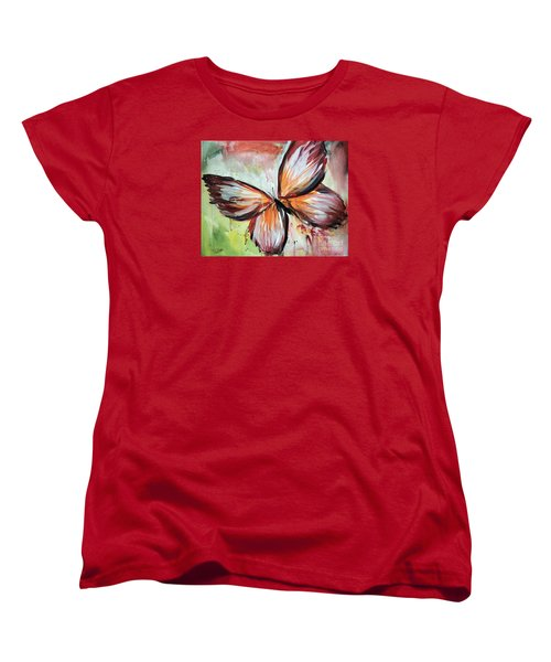 Acrylic Butterfly Women's T-Shirt (Standard Cut) by Tom Riggs