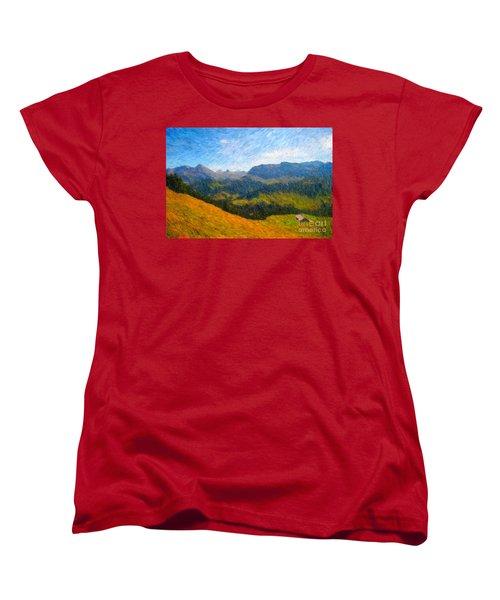 Adelboden Countryside Women's T-Shirt (Standard Cut) by Gerhardt Isringhaus
