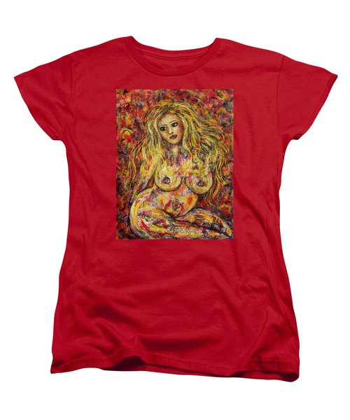Adrianna Women's T-Shirt (Standard Cut) by Natalie Holland