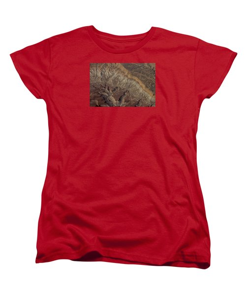 Aerial View Of Rock Formation Women's T-Shirt (Standard Cut) by Ivete Basso Photography