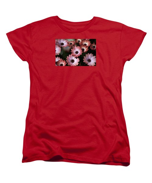 African Daisy Zion Red Women's T-Shirt (Standard Cut) by Joy Watson