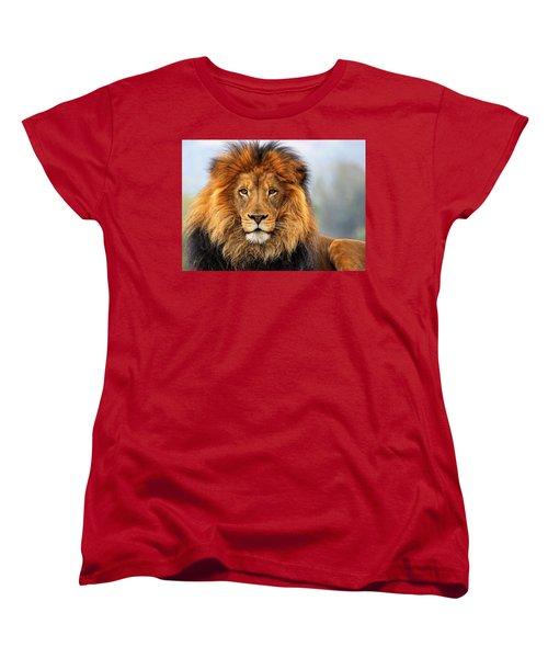 African Lion 1 Women's T-Shirt (Standard Cut) by Ellen Henneke