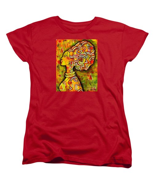 Women's T-Shirt (Standard Cut) featuring the painting African Queen by Julie Hoyle