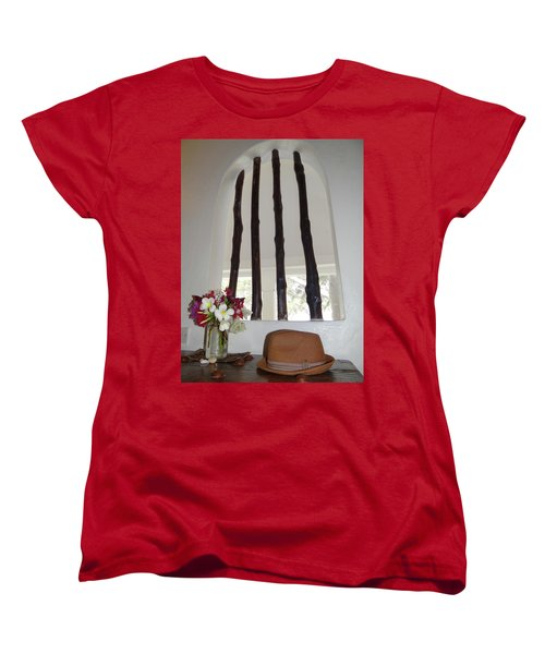 African Table With Flowers And Hat Women's T-Shirt (Standard Fit)