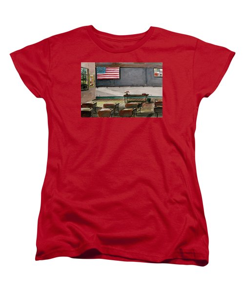 Women's T-Shirt (Standard Cut) featuring the painting After Class by John Williams