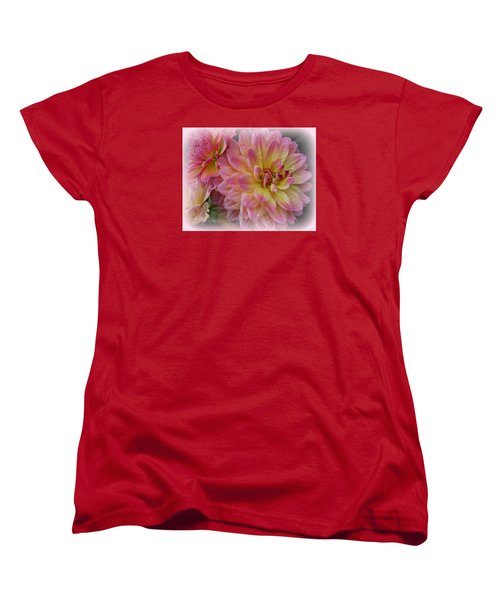 After The Rain - Dahlias Women's T-Shirt (Standard Cut) by Dora Sofia Caputo Photographic Art and Design