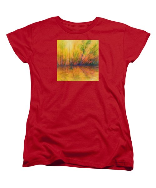 Women's T-Shirt (Standard Cut) featuring the painting Afternoon Glow  by Alison Caltrider