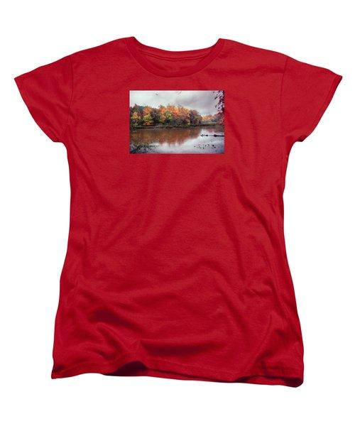 Women's T-Shirt (Standard Cut) featuring the photograph Afternoon Rain by John Rivera