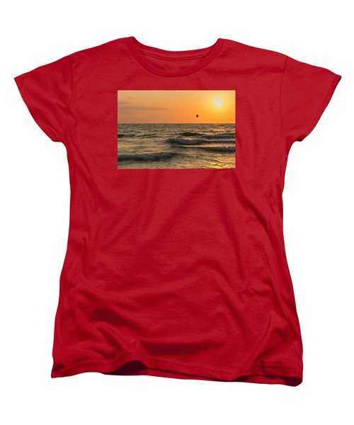 Against The Wind Women's T-Shirt (Standard Cut) by Christopher L Thomley
