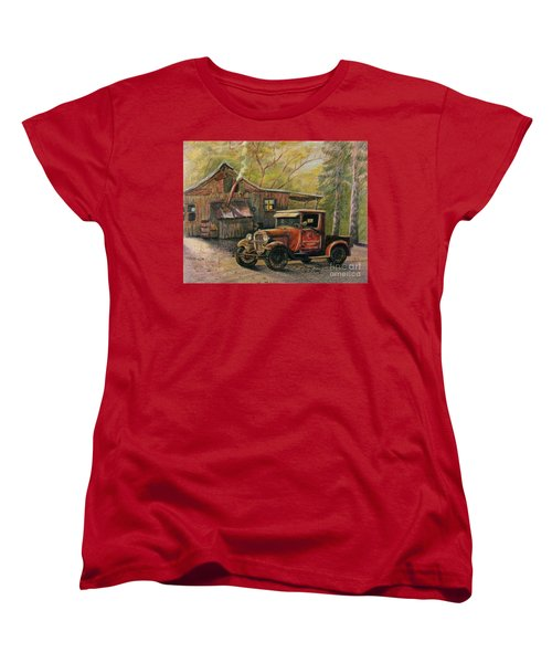 Agent's Visit Women's T-Shirt (Standard Cut) by Marilyn Smith