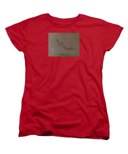 Alien Chasing His Dreams Women's T-Shirt (Standard Cut)