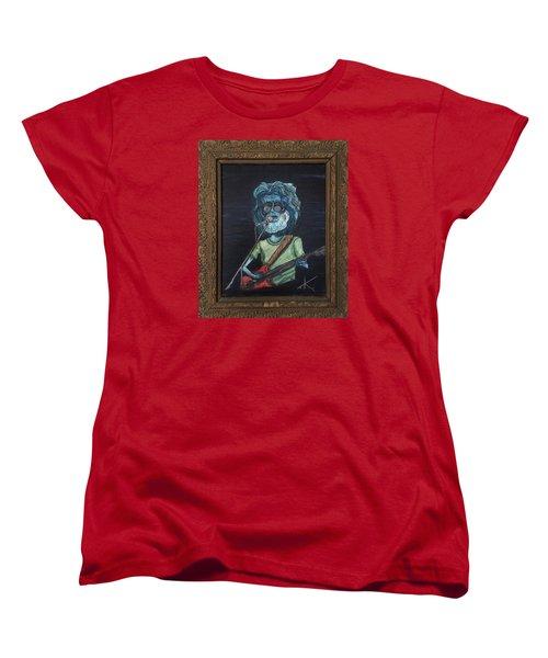 Women's T-Shirt (Standard Cut) featuring the painting Alien Jerry Garcia by Similar Alien