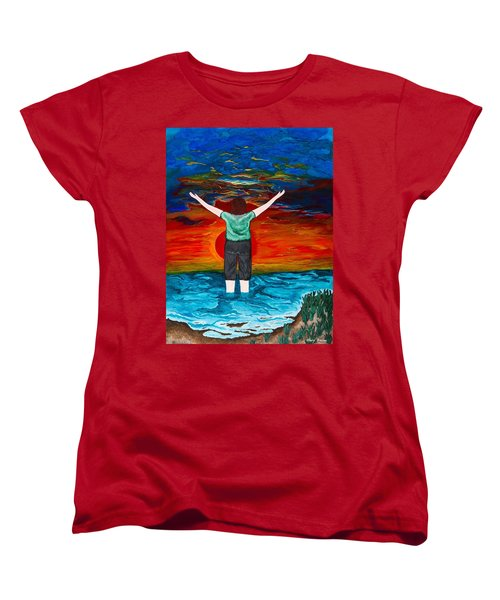 Alive Women's T-Shirt (Standard Cut) by Cheryl Bailey