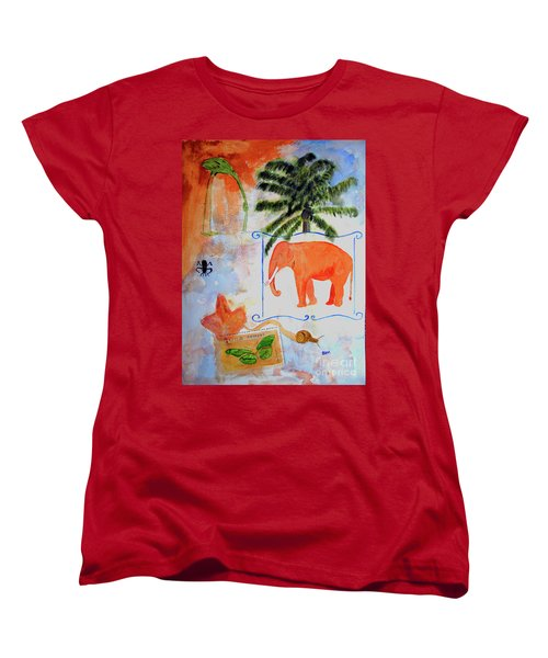 Women's T-Shirt (Standard Cut) featuring the painting All Creatures Great And Small by Sandy McIntire