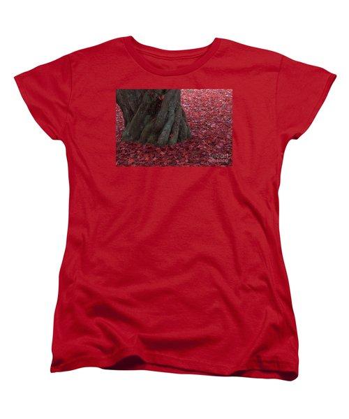 All Red Women's T-Shirt (Standard Cut) by Steven Macanka