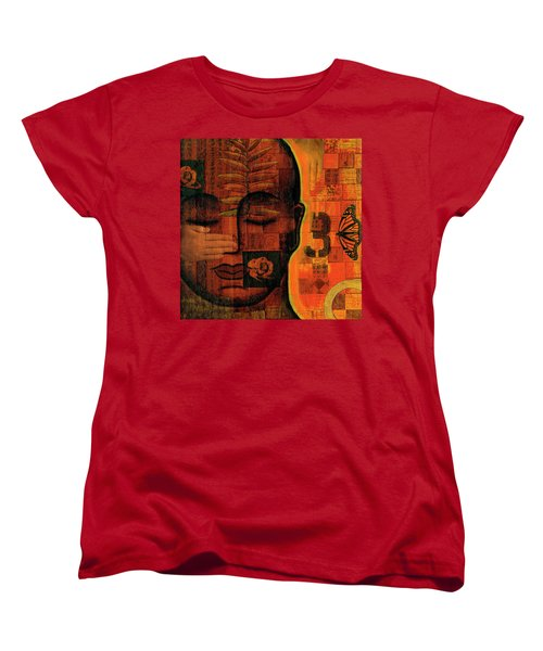 Women's T-Shirt (Standard Cut) featuring the painting All Seeing by Gloria Rothrock