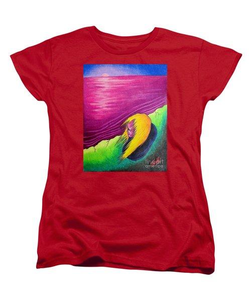 Alone Women's T-Shirt (Standard Cut) by Michael  TMAD Finney