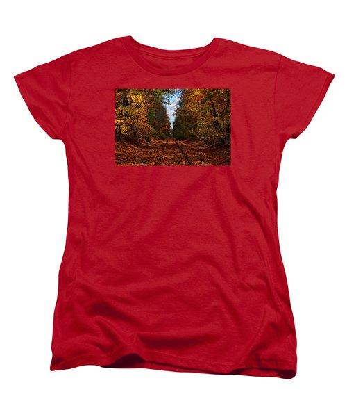 Along The Rails Women's T-Shirt (Standard Cut) by Tricia Marchlik