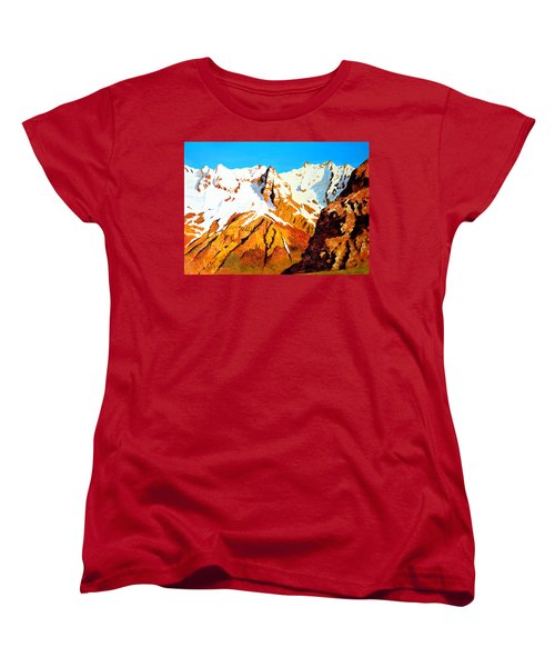 Alpine Landscape Women's T-Shirt (Standard Cut) by Henryk Gorecki
